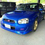 平成14年式・スバル・インプレッサ・WRX STI・青