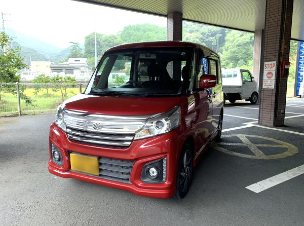 平成28年式・スズキ・スペーシアカスタム・XS・赤